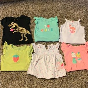 Baby girl 9 month tops